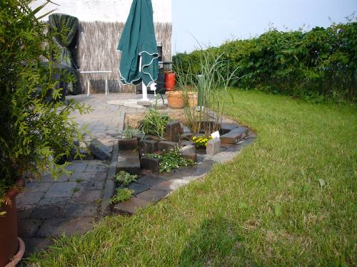 Ein kleiner Steingarten.