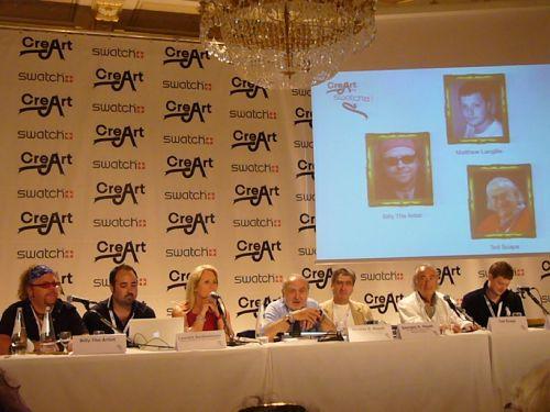 Trafen wichtige Leute auf der Pressekonferenz von Swatch.