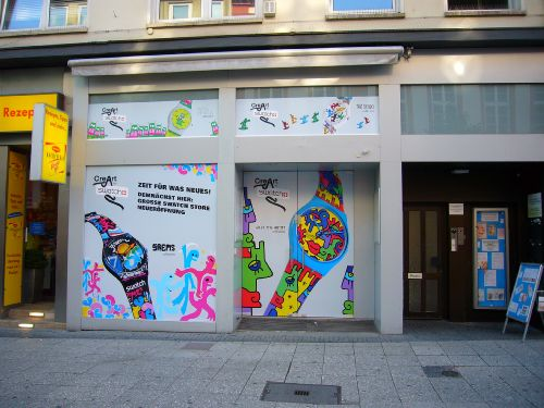 Neuer Swatch Store in Frankfurt.