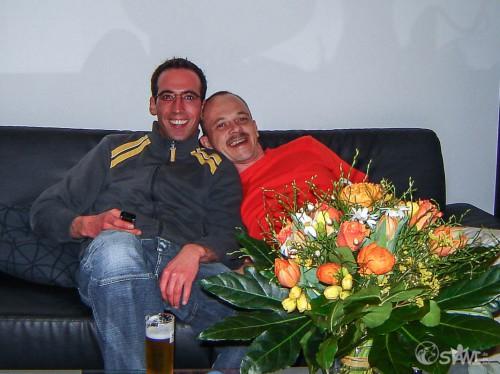 Eines der ganz wenigen Bilder von uns beiden, vom 15.04.2006.