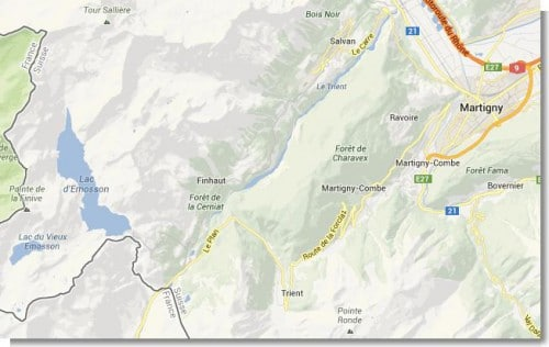 Das Gebiet, in dem wir am 31.05.2013 unterwegs waren.