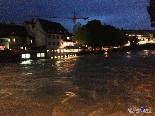 Hochwasser in Rheinfelden.