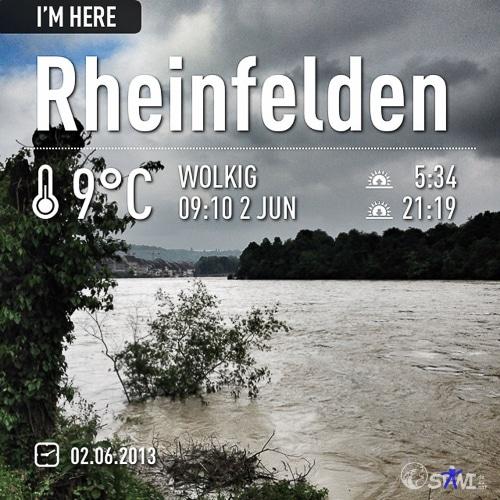 Morgenrunde am Rhein.