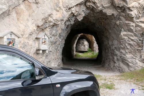 Zufahrt zum alten Tunnel.