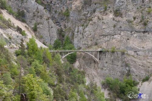 Brücke am Foret de La Rocha.
