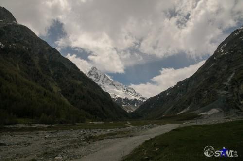 Von Zinal in Richtung Matterhorn.