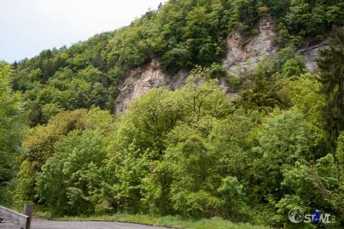 In der Mitte des Bildes, war ungefähr der Erdrutsch.