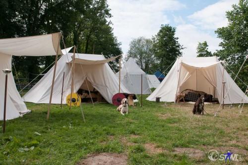 Unser Zelt steht auch.