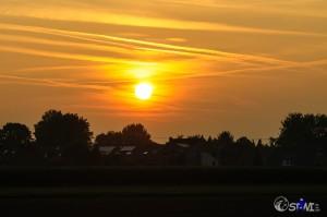 Sonnenuntergang über Rheindahlen