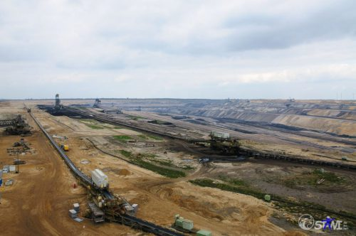 Tagebau Garzweiler in Richtung Norden.