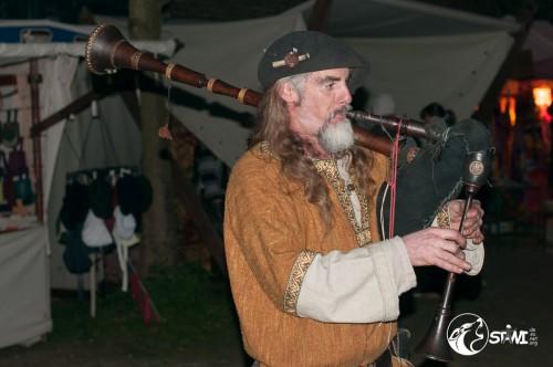 Musiker mit Sackpfeife.