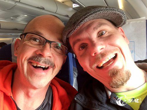 Irgendwo in der Luft auf dem Weg nach San Francisco.
