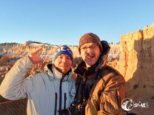 Guten Morgen aus dem Bryce Canyon bei -11° C.