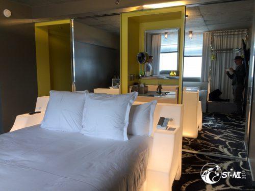 Unser Hotelzimmer im SLS-Hotel & Casino.