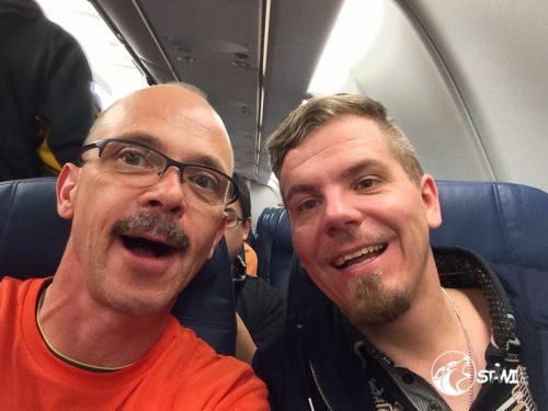 Abflug von Minneapolis nach Amsterdam.