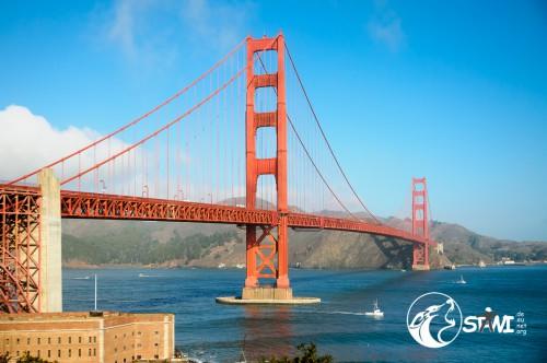 Die Golden Gate Brücke.