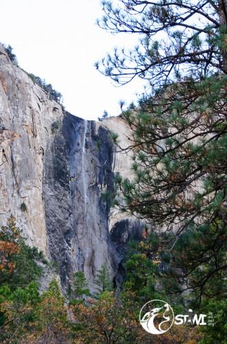 Wasserfall mit Winterpause.
