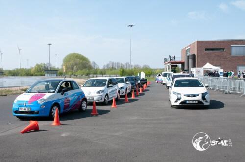 Alle verfügbaren E-Fahrzeuge auf dem Gelände