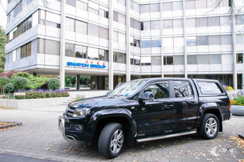 Amarok vor der Swatch Group in Biel.