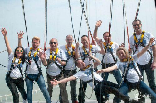 Gruppenfoto auf dem Macau-Tower (233m).