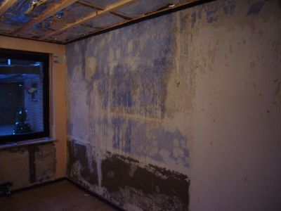 Wand und Decke