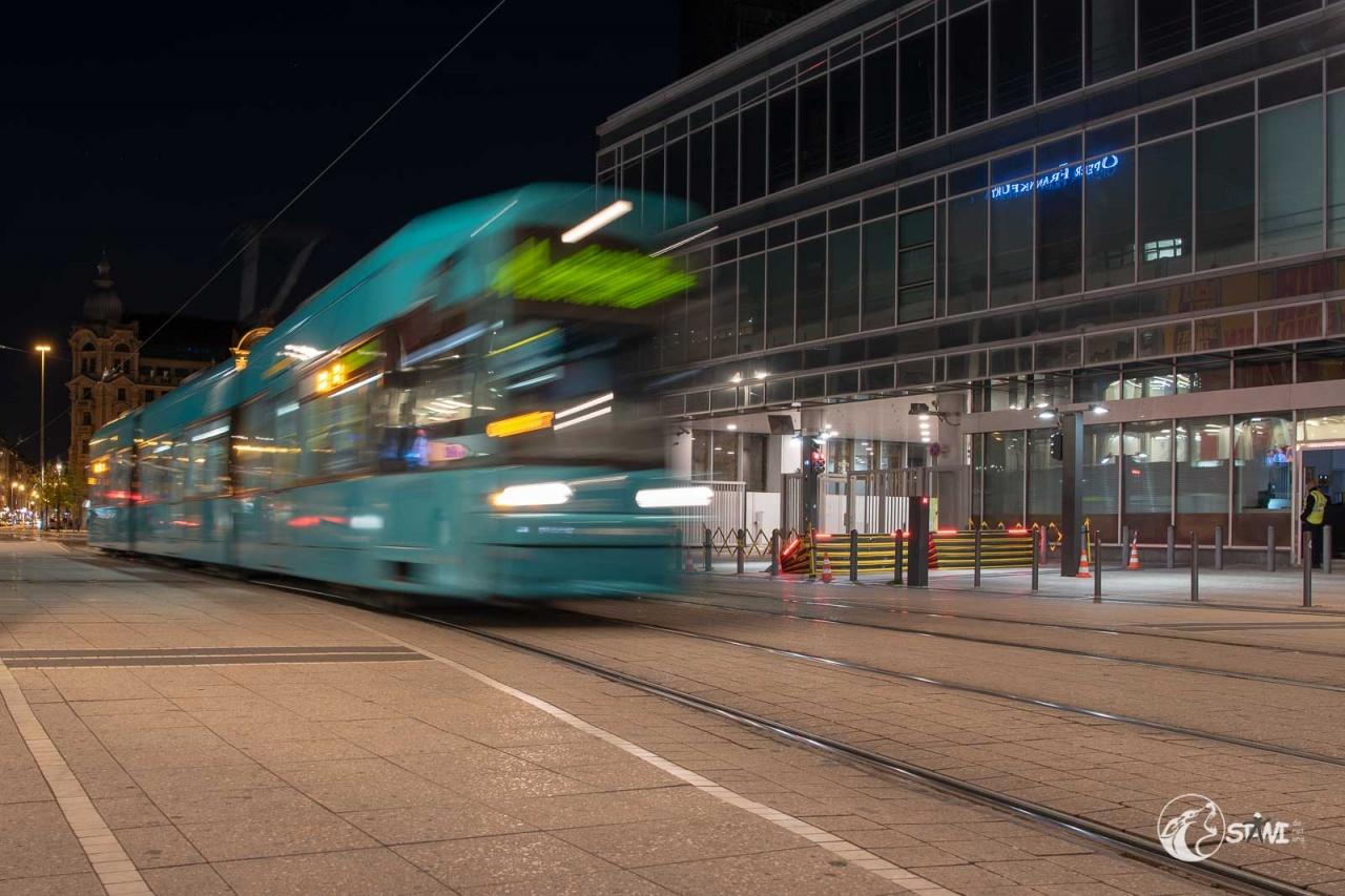 Straßenbahn in Bewegung