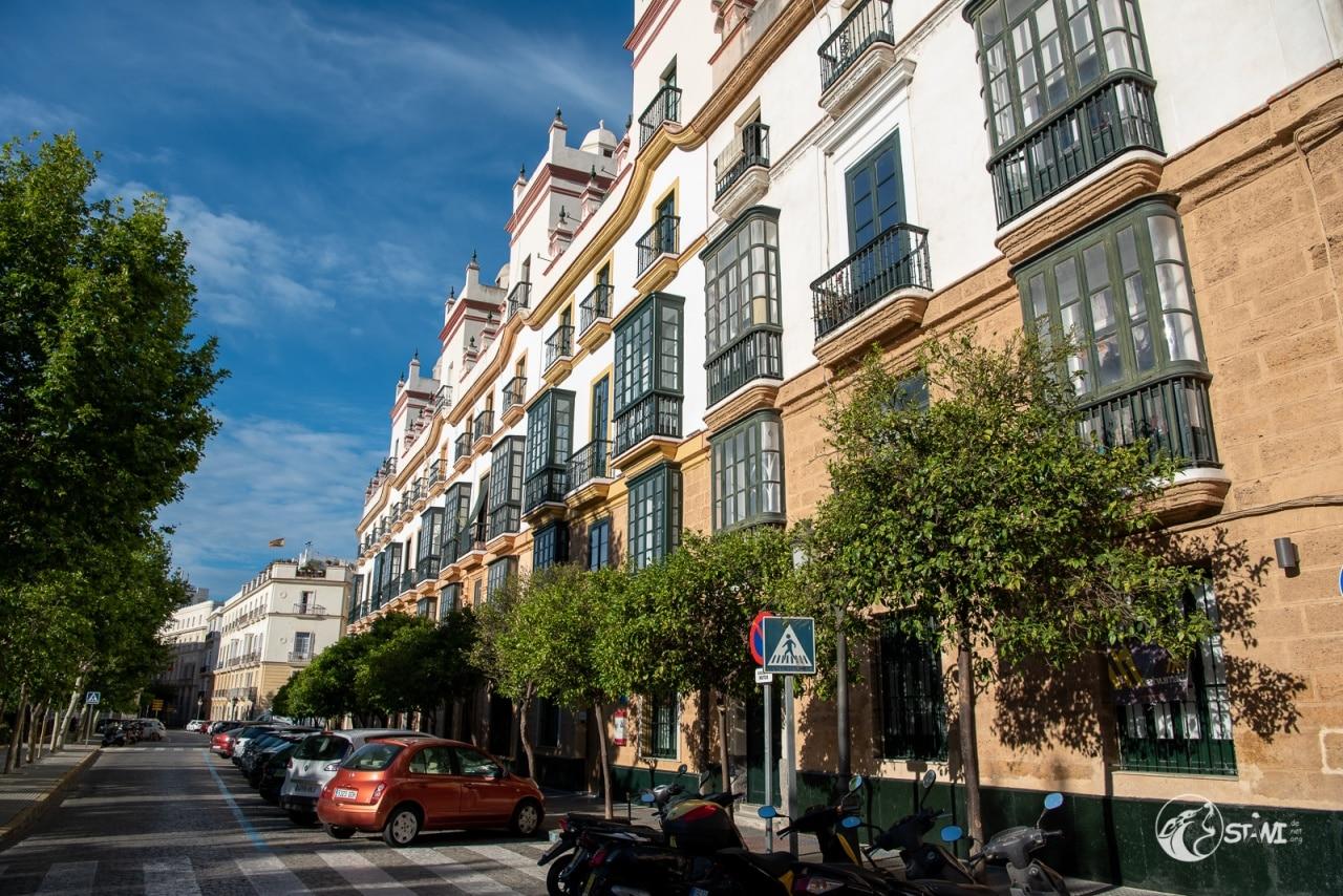 Hausfront in Cadiz