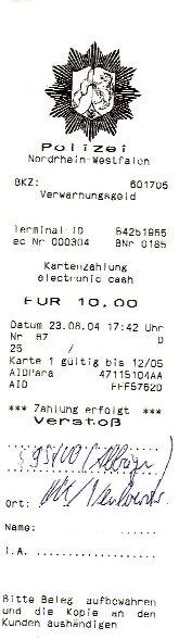 Knolle mit EC-Karte bezahlt